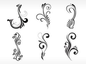 Vector Floral Elements