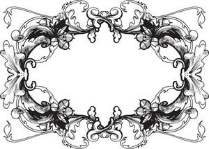 Vector Floral Frame