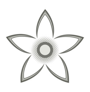 Vector Floral Star