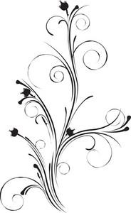 Vector Floral Swirl