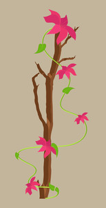 Vector Flowers Branch Design