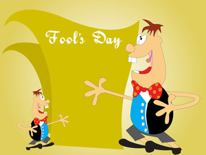Vector Fools Day Background