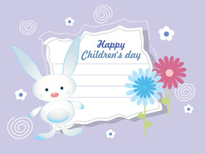 Vector For Happy Children's Day Celebration