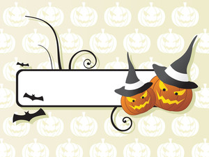 Vector Frame On Halloween Background