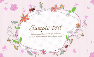 Vector Frame With Floral