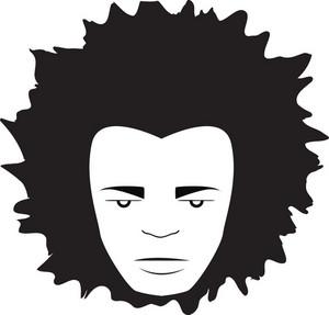 Vector Funky Man Face
