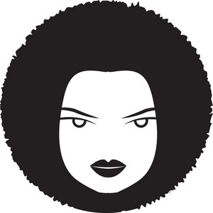 Vector Funky Woman Face
