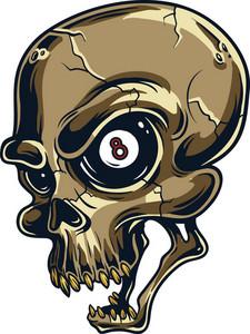 Vector Gambling Skull