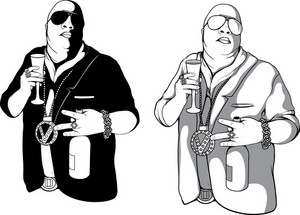 Vector Gangster Silhouettes