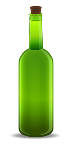 Vector Glass Bottle