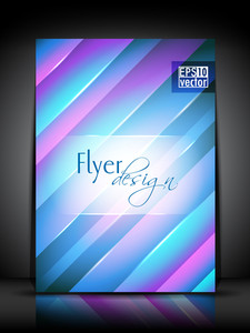 Vector Glossy Flyer Design