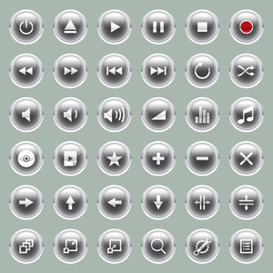 Vector Glossy Web Buttons