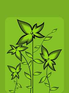 Vector Go Green Background