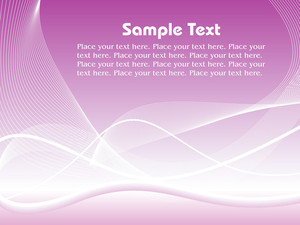 Vector Graphic Layout With Sample Text