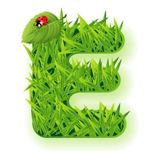 Vector Grass Letter.