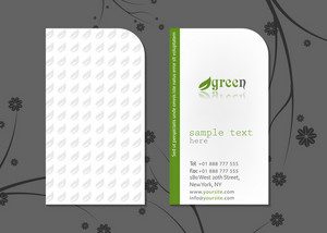 Vector Green Business Card
