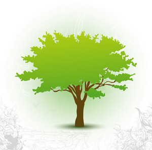Vector Green Tree Background