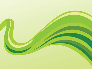 Vector Green Waves Background