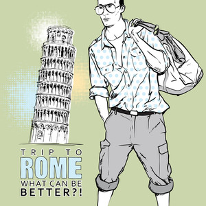 Vector Greeting Card With Stylish Guy