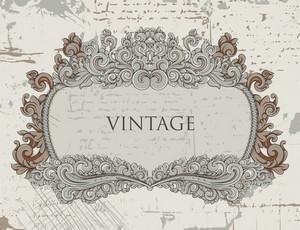 Vector Grunge Baroque Frame