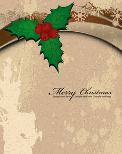 Vector Grunge Christmas Greeting Card