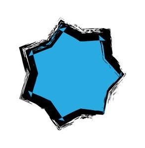 Vector Grunge Star Shape