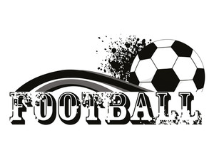 Vector Grungy Background With Football