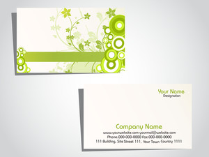 Vector Grungy Floral Pattern Business Card