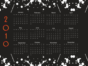 Vector Grungy Pattern Calender