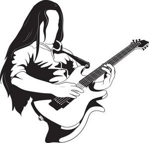Vector Guitar Player