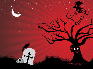 Vector Halloween Background Illustration