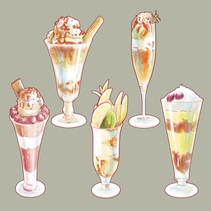 Vector Hand Drawn Beverages