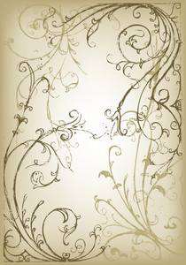 Vector Hand Drawn Floral Vintage Illustration
