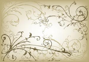 Vector Hand Drawn Floral Vintage Illustration