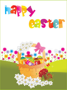 Vector Happy Easter Wallpaper