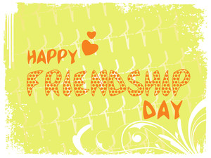 Vector Happy Friendship Day Background