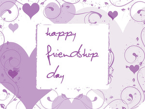 Vector Happy Friendship Day Card