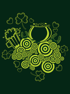 Vector Happy St Patricks Day Pattern Background