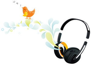 Vector Headphone With Artwork