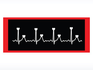 Vector Heart And Heartbeat Symbol