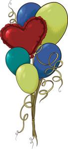 Vector Heart Baloons