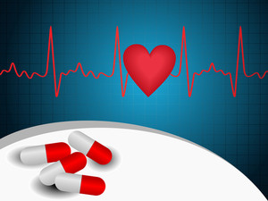 Vector Heart Beat  Abstract Background Wih Capsules
