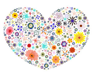Vector Heart Made Of Flowers