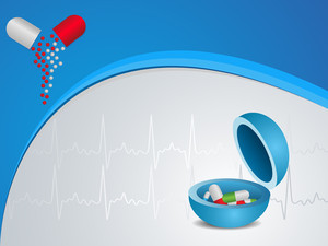 Vector Heart Medical Background With Mortar And Pestle
