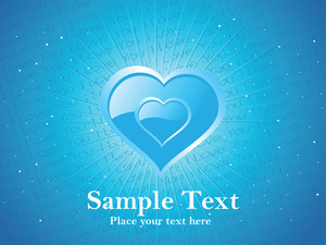 Vector-heart With Blue Background