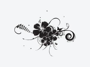 Vector Hibiscus Flower Illustration