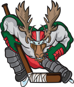 Vector Hockey Mascot