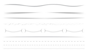 Vector Horizontal Dividers Set