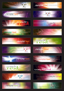 Vector Horizontal Website Banners