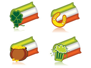 Vector Icons For St. Patricks Day